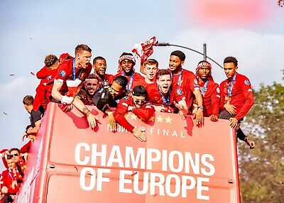 LIVERPOOL FC 2019 Champions league winners HIGH QUALITY A4 PHOTOGRAPH
