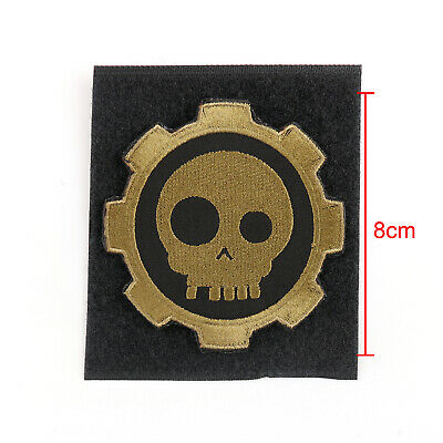 T Skull Solas And Gear Embroidered Hook & Loop Patch Badge USA