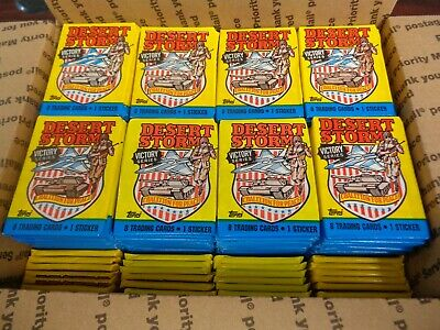 (256) 1991 Topps Desert Storm Victory Series SEALED Wax Packs-7 Boxes Worth!