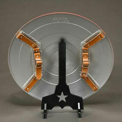 CATTOYS Black PVC Display Stand for 1:1 Avengers Captain America Shield
