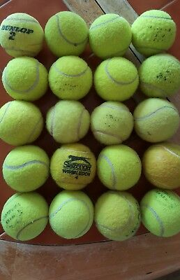 Used tennis balls 20 at OFFER PRICE ! ~ good condition   FREE POSTAGE