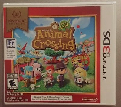 Welcome to Animal Crossing Nintendo New Leaf 3DS 2013, English & French, New