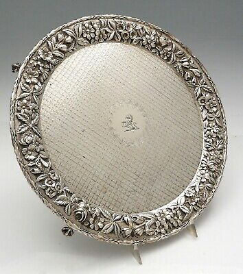 """Large KIRK Repousse 12"""" Sterling SALVER Crest Ball Claw  FEET 24 oz"""