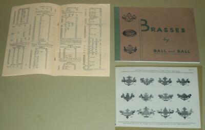 Brasses Ball and Ball 1938 catalog price list antique furniture hardware handle