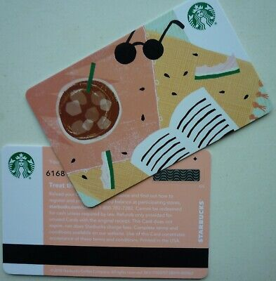 Starbucks Card 2019 Summer Sunglasses 2018 #6168 W/ ' Diamond ' On Back No Value