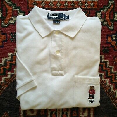36bb9755af09de Vintage Men's Ralph Lauren Polo Bear Polo Shirt Size Adult M Polo Sport Bear