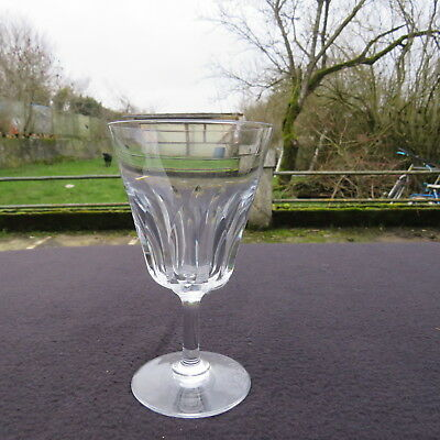 Glass Wine White Crystal Cut Baccarat Signed Model Cote D Azur