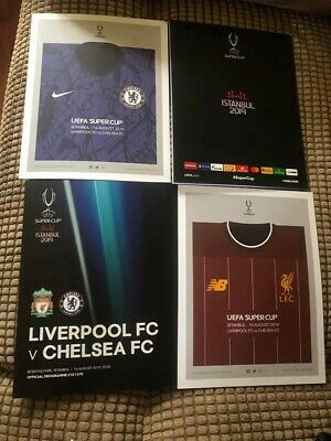 Super Cup Final Programme Liverpool V Chelsea 14.08.2019 FREE POSTAGE CHEAPEST