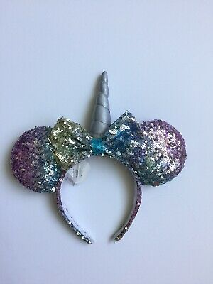 Disney Unicorn Sequins 2019 Minnie Mouse Ears Headband