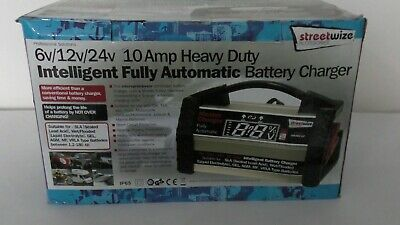 6v 12v 24v 10 Amp Car Van Heavy Duty Intelligent Fully Automatic Battery Charger