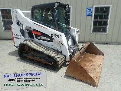 2016 BOBCAT T590 Skid Steer, Erops, Heat/Ac, Roller Susp, Aux Hydraulics,  66 Hp
