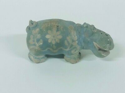 Vintage Carved Hand Painted Hippo