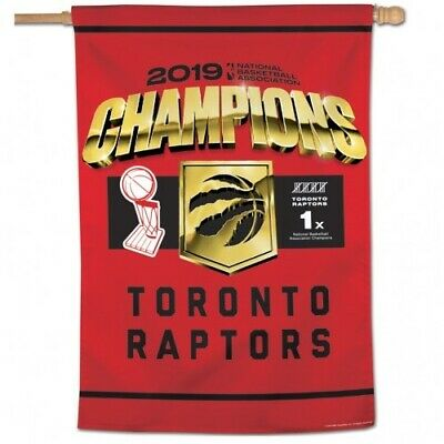 """Toronto Raptors 2019 Champions Vertical Banner/Flag 28"""" X 40"""" Ships From Canada"""