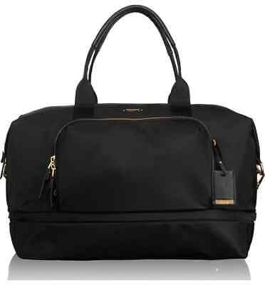 Tumi Voyageur Durban Expandable Duffel Carry On 484602 Black/Gold