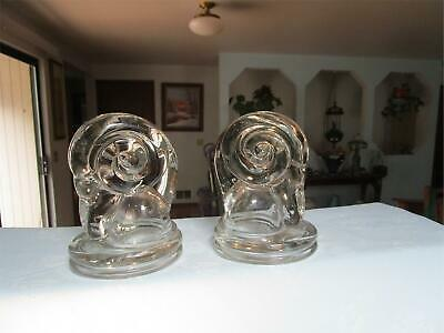 "Vintage Pair 6"" Ram's Head Art Deco Animal Bookends Rare"