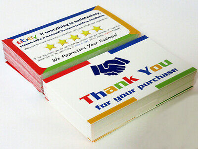 eBay Thank You Cards Double Sided Buy More Save More + Free Shipping