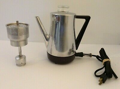 Vintage West Bend Flavo-Matic Electric Coffee Pot Percolator 5 Cup Complete