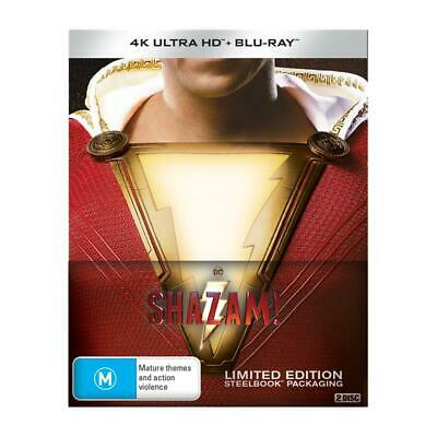 Shazam! 4K UHD (STEELBOOK)  - Brand New & Sealed - RD 17.07.2019
