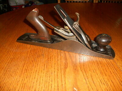 Antique BAILEY Smooth Bottom # 5 Wood Plane  Pat 1902 w/ Stanley Blade
