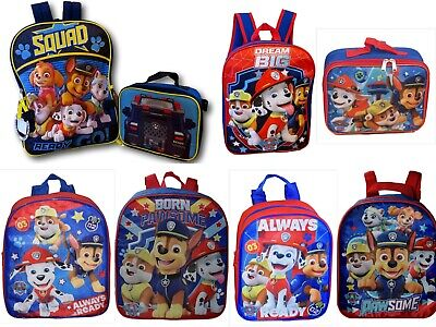 Paw Patrol Boys School Backpack Lunch box Book Bag Toddler Kids Gift Toy Pre K