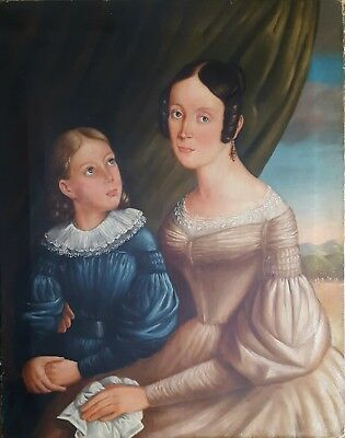 Antique Portrait, Oil Painting, 19th Century French Painting, Circa 1835
