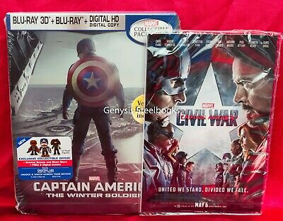 Captain America: Winter Soldier 3D Best Buy Future Shop SteelBook + Art Cards