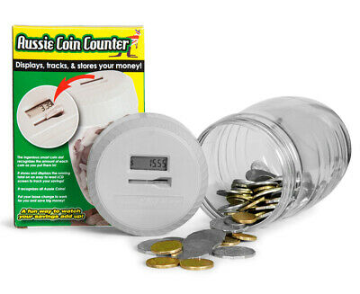 Aussie Coin Counter Digital Coin Counter watch your savings add up! NEW