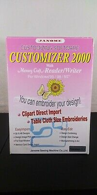 Janome Customizer 2000 with Memory Craft Reader/Writer for Windows 95/88/NT