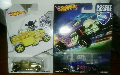 Hot Wheels Lot of 2 BONE SHAKERS Rocket League Bone Shaker + Larry Woods