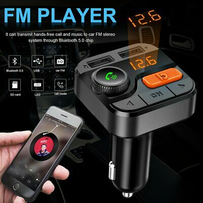 WIRELESS BLUETOOTH STEREO Music Audio FM Transmitter Charger