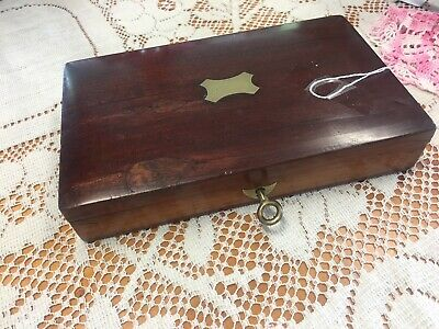 Antique mahogany Box And Writing Set