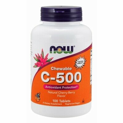 Vitamin C-500 Cherry Chewable 100 Tabs by Now Foods