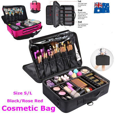 Professional Makeup Bag Portable Cosmetic Brush Organize Case Storage Box Travel