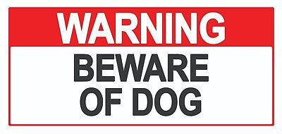 4 x - Beware of Dog - Sign Self Adhesive Removable Waterproof Vinyl Stickers