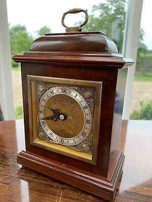 Garrard & Co Ltd, Elliot, London England, Walnut Bracket Mantel Clock