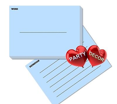 A7 Blue Revision Flash Cards Word and Definition Pack of 100 pieces