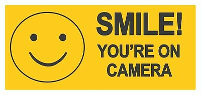 4 x SMILE you are on - Label Self Adhesive Removable Waterproof Vinyl Stickers