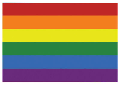 4 x Gay Pride Flag Car Rainbow Sticker Self Adhesive Waterproof Vinyl Stickers