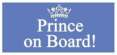 4 x Prince on Board Car Label  Self Adhesive Waterproof Vinyl Stickers 225x106mm