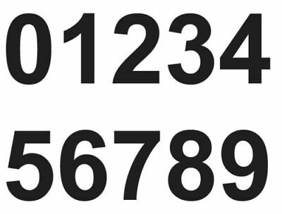 4 x   Set of Black 0-9 Numbers Self Adhesive Vinyl Stickers size 50mm