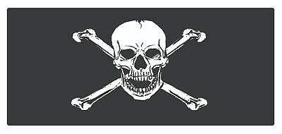 4 x Pirate Sticker Car Label Self Adhesive Removable Waterproof Vinyl Stickers