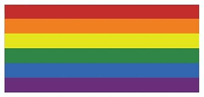 2 x Gay Pride (no text) Rainbow Sticker Self Adhesive Waterproof Vinyl Stickers