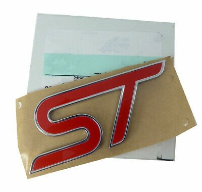 Red Letters Emblem ST Badge Decal Sticker Logo For FORD FIESTA FOCUS MONDEO