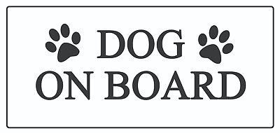 4 x - Dog on Board  paw print - Car Sign Self Adhesive Waterproof Vinyl Stickers