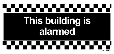 4 x - This Building is Alarmed Info Sign Self Adhesive Waterproof Vinyl Stickers