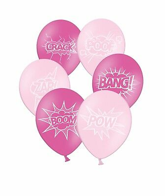 "Superhero Collection 12/"" Assorted Printed Latex Balloons By Party Decor 20 ct"