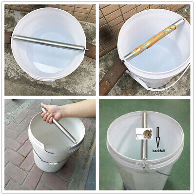 Stainless Steel Mice Mouse Trap Log Roll Bucket Rolling Stick Rodent Spin LA
