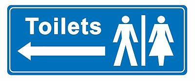 Toilets - arrow left - Information Self Adhesive Labels 100mm x 148mm 12ct