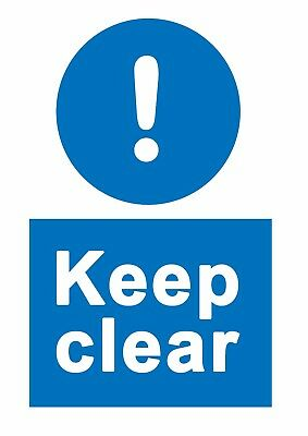 Keep Clear - Information Self Adhesive Labels 100mm x 148mm 16ct