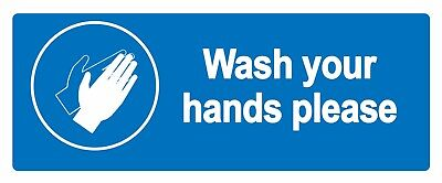 Wash your hands - Information Self Adhesive Labels 100mm x 148mm 4ct